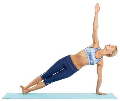 аштанга йога для похудения - боковая планка