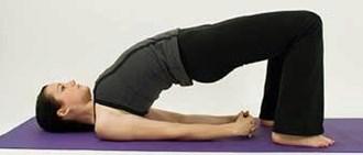 виды йоги для похудения - поза моста