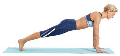 йога для похудения живота - поза планки